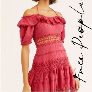Free People Mixed Emotions Off-The-Shoulder Mini